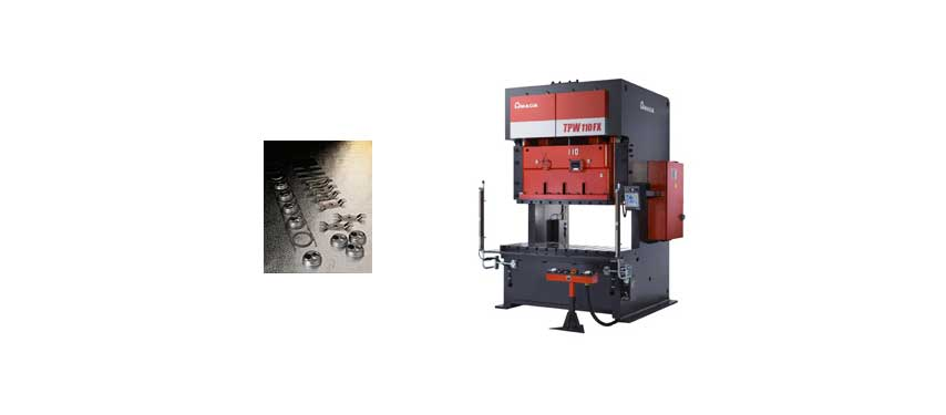 Prensa de estampado de doble manivela serie TPW-FX